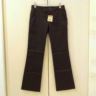 🚚 全新 EMA 條紋彈性修身直筒西裝褲 36