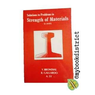 Solutions to Problems in Strength of Materials by Brondial et.al