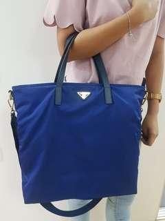 Authentic Blue Prada Bag