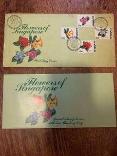 Flowers of Singapore Stamps 1980 10th anniversary