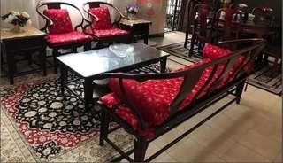 Pre Loved Rosewood Sofa Set