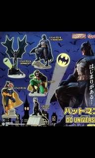 Bandai蝙蝠俠 DC UNIVERSE盒蛋扭蛋figure全套5款