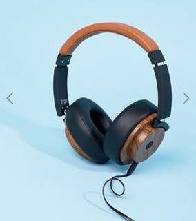 Typo Woodgrain Bluetooth Wireless Headphones (With Box)