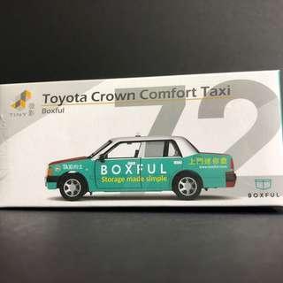 Tiny 72 Toyota Crown Taxi boxful 合金車仔