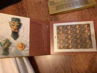 Into Sanxingdui Stamp Treasured Up Book