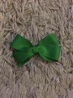 Green Handmade Hair Bow