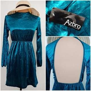 BNWT Velvet backless dress