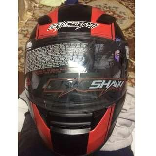 GRACSHAW HELMET G 9999 JET/RED L