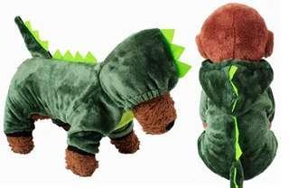 🚚 (全新免運)超舒服超保暖材質!狗狗衣服 寵物衣服 恐龍裝 狗狗恐龍裝 狗狗造型衣