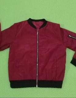 📌SALE jacket bomber maroon
