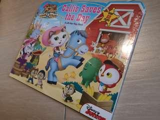New Disney Junior Sheriff Callie Save the Day Lift-A-Flap board book 50 flaps children story