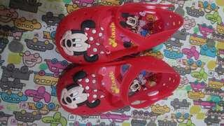 Jelly shoes for kids minnie mouse