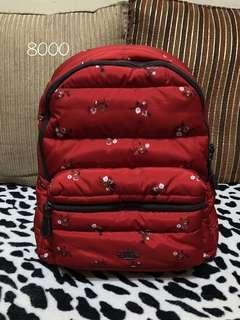 ORIGINAL coach red floral backpack