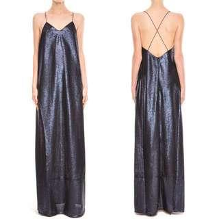 BNWT Finders Keepers Dream On Maxi Dress in Matte Navy