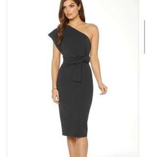 Pasduchas La Fontana Black midi dress
