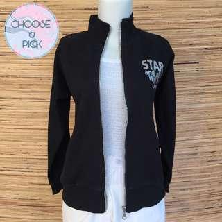 Jaket hitam silver