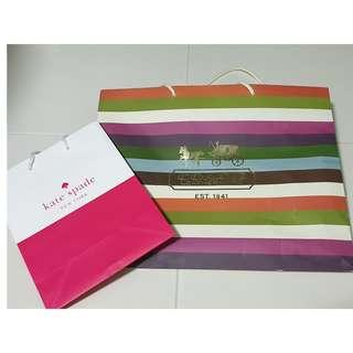 Coach and Kate Spade paper bag