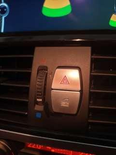 BMW hazard / central lock Aluminium Button cover