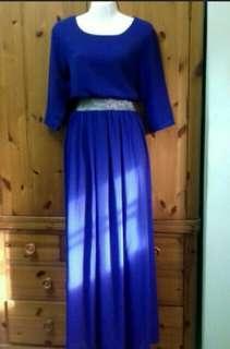 Poplook with Glither Belt (royal blue) #PRECNY60