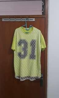 Light green oversized korean tshirt