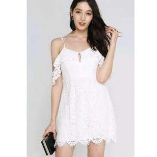 Supergurl Krystal keyhole lace dress