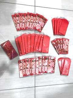 Bundle of CNY Angpows Red Packet Sleeves