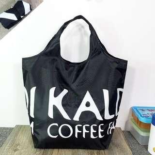 日本限定 KALDI Coffee Farm 黑色 輕便 折疊購物袋 托特包 單肩包 手提袋 購物袋