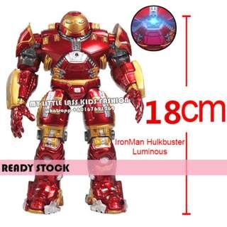 Avengers Iron Man Hulkbuster Luminous Action Figures Toy With Light 18CM