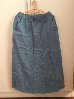 Free Size Blue long skirt