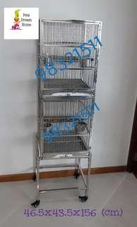 Stainless Steel 2-Tier Cage