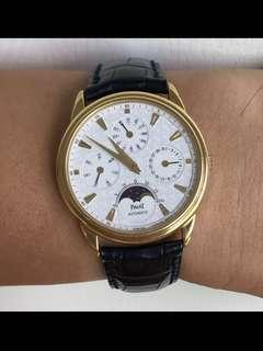 Piaget 18K Solid Gold Perpetual Calendar Annual Moonphase Men Automatic Watch