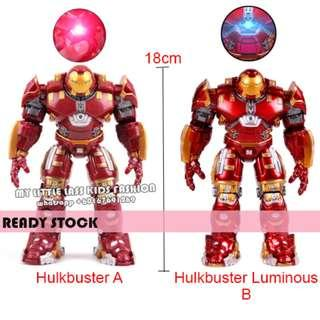 Avengers Iron Man Hulkbuster Action Figures Toy With Light 18CM