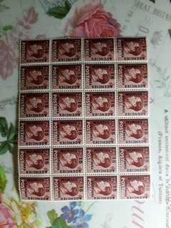 Large block Colonial stamp