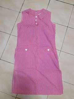 Dress salur merah putih