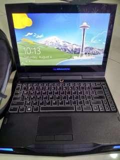 Laptop Dell intel i7 processor Alienware