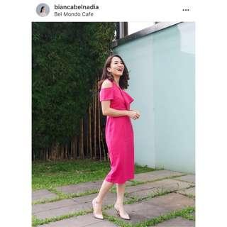 Fuchsia off shoulder dress by Love Bonito (Casual dress) #bersihbersih