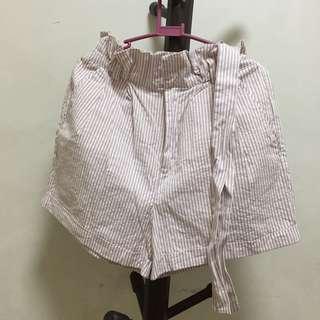 F21 Pink Paperbag Shorts