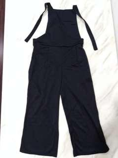 Suspender trousers lady black size S