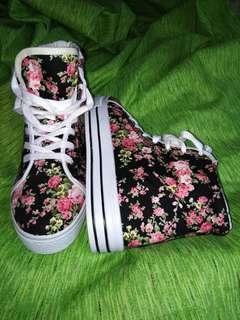 Floral High Cut Shoes
