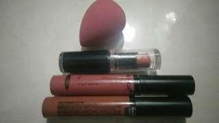 Wet n Wild Lipstick Nabi Matte Lip Gloss Beauty Blender