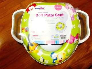 Potty with soft seat (brand new)