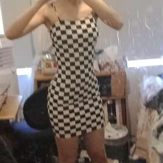 FASHIONNOVA Checkered Dress