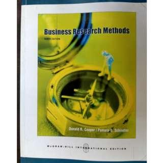 Business Research Methods (9th edition) by Donald R. Cooper, Pamela S. Schindler