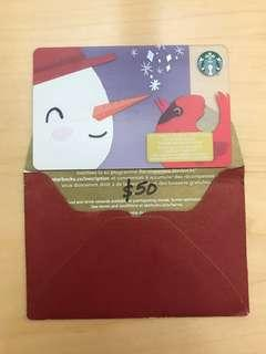 $50.00 Starbucks Gift Card
