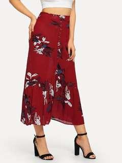 Floral red maxi skirt ❤️