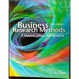 Business Research Methods: A Managerial Approach (2nd edition) by A. J. Veal [Paperback]