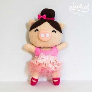 [CNY SALE] Pink Ballerina Pig Ornament