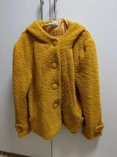 🚚 黃色毛毛外套