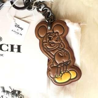 Coach X Disney Limited Edition Mickey Mouse Leather Key Chain