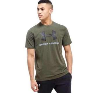 New With Tag UNDER ARMOUR SPORTSTYLE LOGO Tee Shirt (MEDIUM)